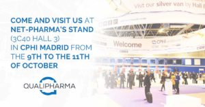 Promotional picture for the presence of Qualipharma at CPHI Madrid